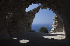 Griechenland, die Ruinen der Kirche Lizenzfreies Stockfoto