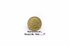 Griechenland-Drachme Stockfotos