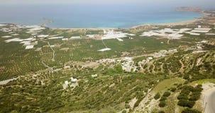 Griechenland, Draufsicht der Seeküste stock video footage