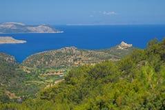 Griechenland durch Auto Lizenzfreies Stockfoto