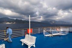 Griechenland entlang der Küste der Insel von Karpathos Stockfotografie