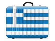 Griechenland-Flaggenreisekoffer lizenzfreie abbildung