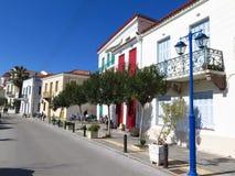 Griechenland-Häuser in einer Insel Stockfotografie