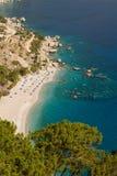 Griechenland, Karpathos-Insel Apella-Strand Stockfotos