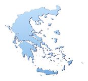 Griechenland-Karte Stockfotografie