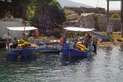 Griechenland, Lefkas, Fisher Men Stockfotografie