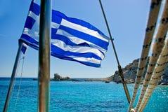Griechenland-Markierungsfahne Lizenzfreies Stockfoto