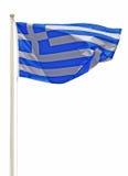 Griechenland-Markierungsfahne Lizenzfreie Stockfotos
