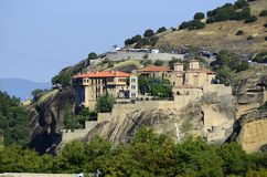 Griechenland, Meteora, Kloster Verlaam Lizenzfreies Stockbild