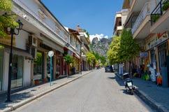 Griechenland, Meteoren, schmale Straße in der Regelung Kalambaka Stockfotografie