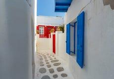 Griechenland Mykonos Typische Architektur Stockbild