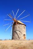 Griechenland/Patmos: Eine der Mühlen von Chora  Lizenzfreies Stockfoto