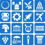 Griechenland-Piktogramme Lizenzfreies Stockfoto