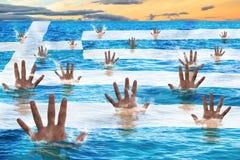 Griechenland-Rettung Stockbild