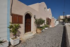 Griechenland, Santorini, Fira Stockfoto