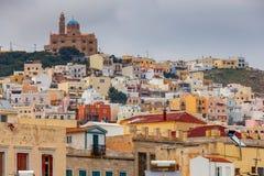 Griechenland Syros Insel Ermoupolis Stockfotografie