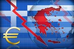 Griechenland-Systemabsturz Stockfotografie