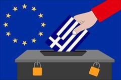 Griechenland-Wahlurne für die Europawahlen stockfotografie