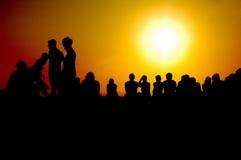 GRIECHENLANDS SONNENUNTERGANG Lizenzfreies Stockfoto