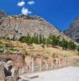 Griecheruinen in Delphi Stockfotografie