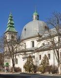 Griechisch-katholische Kirche in Ternopil, Ukraine Lizenzfreies Stockbild