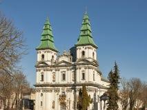 Griechisch-katholische Kirche in Ternopil, Ukraine Stockfotos