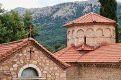 Griechisch-orthodoxe Kirche, Agia Lavra Monastery, Peloponnes, Griechenland lizenzfreies stockfoto