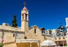 Griechisch-orthodoxe Kirche der Ankündigung in Nazaret stockbild