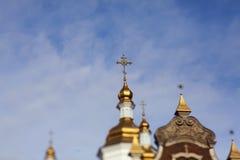 Griechisch-orthodoxe Kirche im Gold lizenzfreie stockfotografie