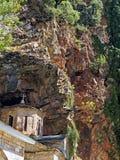 Griechisch-orthodoxe Kirche, Proussos-Kloster, Karpenisi, Griechenland Stockfotografie