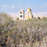 Griechisch-orthodoxe Kirche in Wadi Al Kharrar-Bereich stockbild