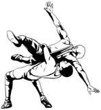 Griechisch-romanischer Ringkampf Stockbilder