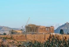 Griechische Akropolis Stockbild