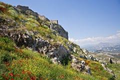 Griechische Ansicht, Acrocorinth Lizenzfreies Stockfoto