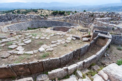 Griechische archäologische Fundstätte Mycenae Stockbilder