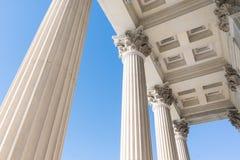 Griechische Architekturspalten stockbild