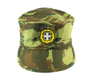 Griechische Armee-Schutzkappe Stockbilder