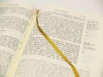 Griechische Bibel geöffnet Lizenzfreies Stockfoto