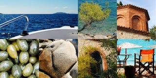 Griechische Collage Lizenzfreie Stockbilder