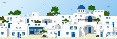 Griechische Dachspitzen stock abbildung