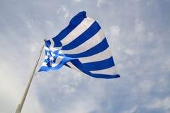 Griechische Flagge Stockfoto