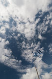 Griechische Flagge lizenzfreies stockfoto