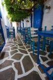 Griechische Gasse Lizenzfreie Stockbilder