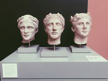 Griechische Gesichter Stockfotos