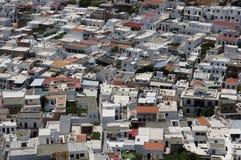 Griechische Häuser von Lindos Lizenzfreie Stockfotografie
