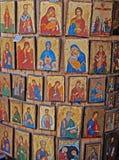 Griechische Ikonen stockfotos