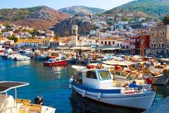 Griechische Insel-Hydra lizenzfreie stockbilder
