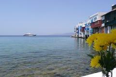 Griechische Insel-Lebensdauer stockfotos
