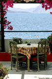 Griechische Insel taverna Szene Stockfoto