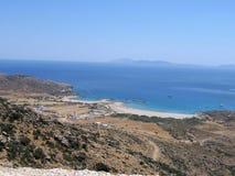 Griechische Insel, zwei Strände Lizenzfreies Stockfoto